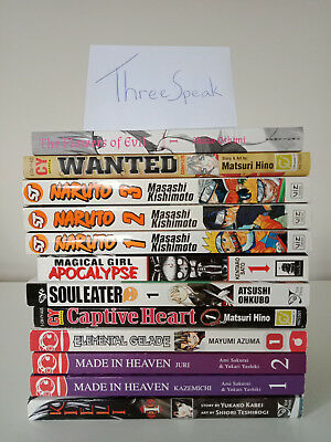 Manga Collection / Bundle (English) incl Naruto, Soul Eater, The Flowers of Evil