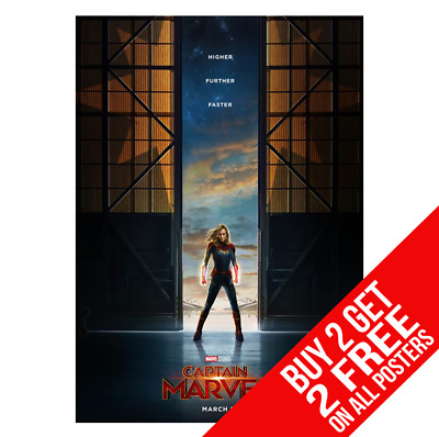 Captain Marvel Bb1 Poster A4 A3 Size Print - Buy 2 Get Any 2 Free