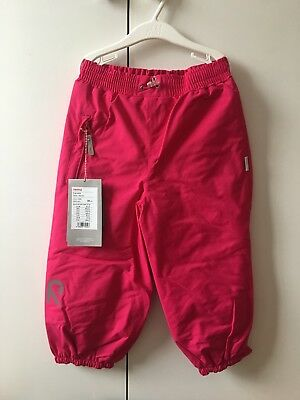 Reima Tec Girl Cherry Pink Snow Pants, 98cm, 3/4 YRS, RRP 68£