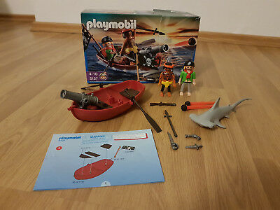 Playmobil 5137 Piraten Ruderboot mit Hammerhai