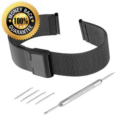 Bewish Mesh Stainless Steel Watch Strap Replacement Band 0.4 mm Wire Metal...