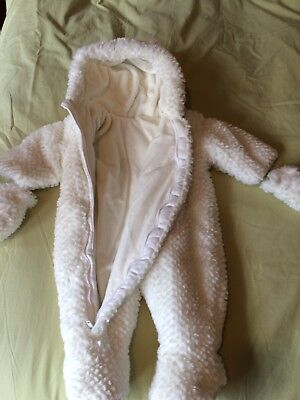 86e1525a11ab9 Baby Unisex Pram Suit Newborn Body Suit All In One Fluffy Mittens Hooded  Warm