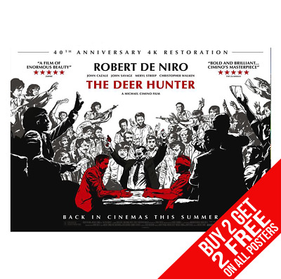 Deer Hunter Poster A4 A3 Size Print - Buy 2 Get Any 2 Free