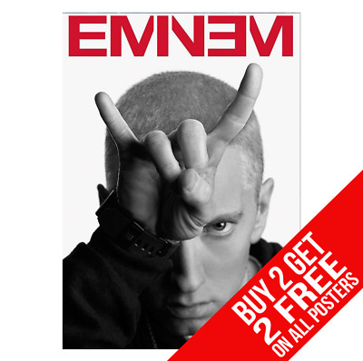 Eminem Poster A4 A3 Size Bb0 Print - Buy 2 Get Any 2 Free