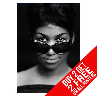 Aretha Franklin Poster A4 A3 Size Bb1 Print - Buy 2 Get Any 2 Free