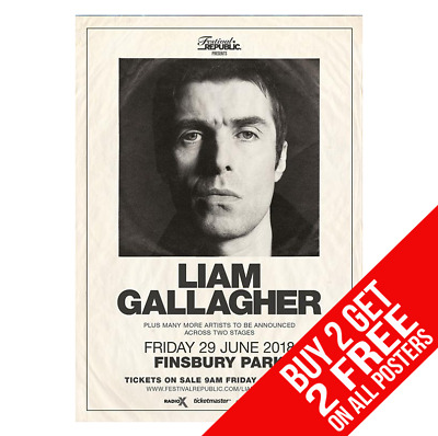 Liam Gallagher Oasis Poster A4 A3 Size Bb4 Print - Buy 2 Get Any 2 Free