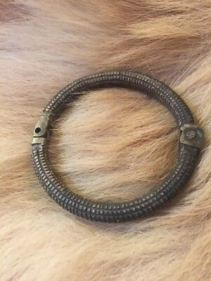 Antique African Tribal Bronze Brass Metal Bracelet Arm Band Currency Africa