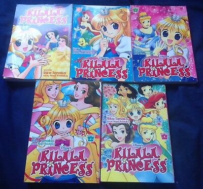Kilala Princess Volumes 1-5 Manga complete, Disney Princess, English
