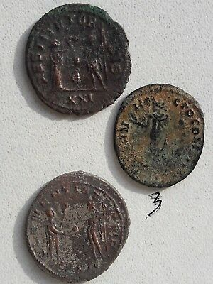 Lot OF 3  Ancient Roman Bronze Coins.