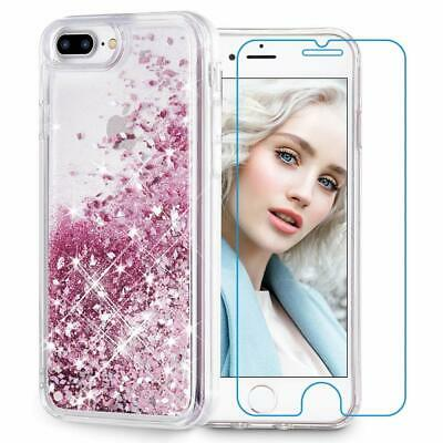 Maxdara iPhone 8 Plus Case,iPhone 7 Plus Glitter Liquid Women Case Bling Sparkle