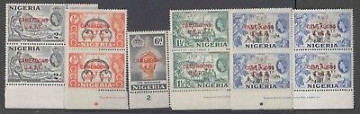 Nigeria Qe 5 Vals In B4 Each W/cameroons Uktt Ovpt In Red By Waterlow & Sons Ltd