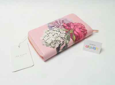 57fc15e464 Ted Baker Beautiful Evara Palace Gardens Floral Matinee Large Leather Purse  Bnwt