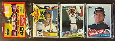 1985 TOPPS Rack Pack TOM SEAVER & GEORGE BRETT AS Glossy card on (TOP)  A1105729