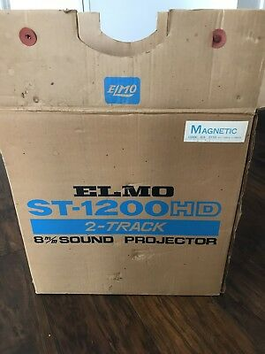 ELMO PROJECTOR SOUND ST-1200 HD M 2-TRACK UNTESTED ~ Brand New And Unused