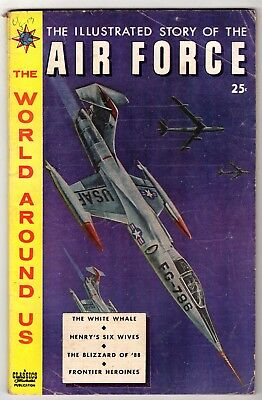 World Around Us #13 with The Illustrated Story of The Air Force, Very Good Cond'