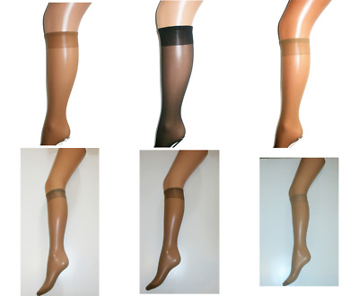 0b662102e70 2 Pairs Pop Socks Opaque Comfort Trouser Socks Knee High Sox One Size 6  Colours
