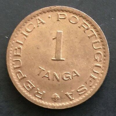 Portugese India 1 Tanga 1952 UNC KM 28 60 Reis Coin Colony Portugal