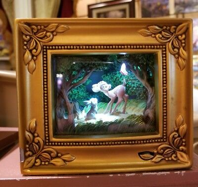 Disney Olszewski Gallery Of Light Bambi With Thumper and Butterfly IN HAND