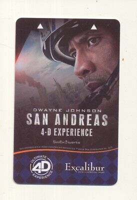 """SAN ANDREAS ""--From--THE Excalibur--Las Vegas,NV----Room key--K-72"