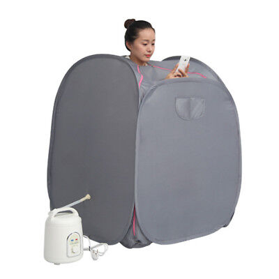 Home Portable Steam Sauna Full Body Detox Loss Weight Slim Indoor Spa Therapy