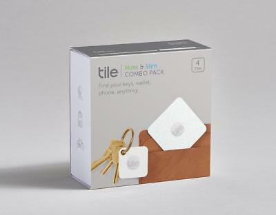 Tile Mate & Slim Combo Trackers (4-Pack) Bluetooth Wireless Item Tracker