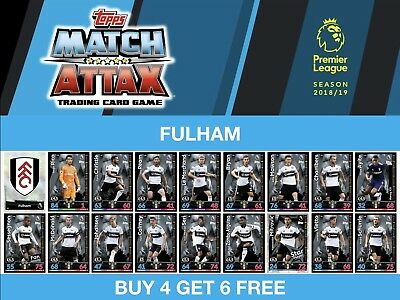 Match Attax 2018/19 18/19 FULHAM