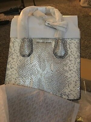 b0e6640af9125f Michael Kors Snakeskin Mercer Smaller Tote Shiny New In Box With Tags  Wrapped Up