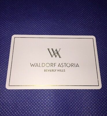 Room Key from The Waldorf Astoria in Beverly Hills