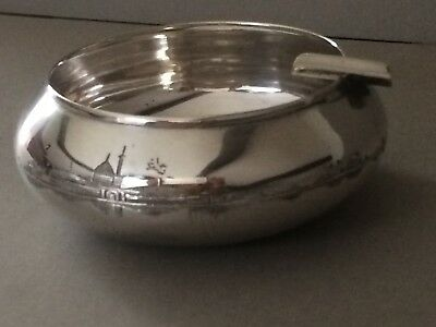 ANTIQUE IRAQI / MIDDLE EASTERN 900,SOLID SILVER  ASHTRAY/ BOWL, 81.85,GMS, c1920