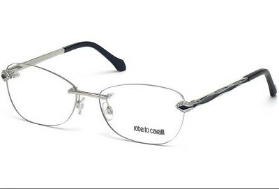 80ab551d074 Authentic Roberto Cavalli Eyeglasses RC0814 016 Shiny Palladium 58MM Rx-ABLE