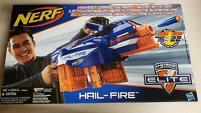 Hasbro Nerf N-Strike Elite Hail-Fire Blaster Discontinued Toy Gun