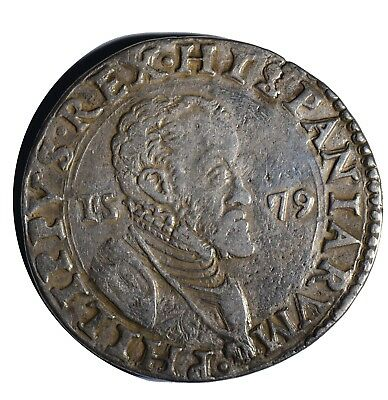 Taler Ducatone Philip II Milan (under Spain) 1579  Italy  thaler taler