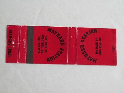O302 Vintage Matchbook Cover NV Nevada Maynard Station Gold Hill