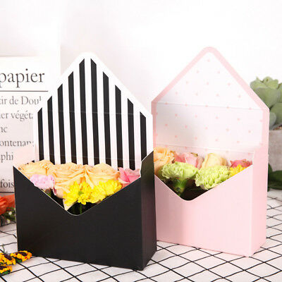 1pcs envelope fold flower box paper flowers wrapping flower gift box party de Px