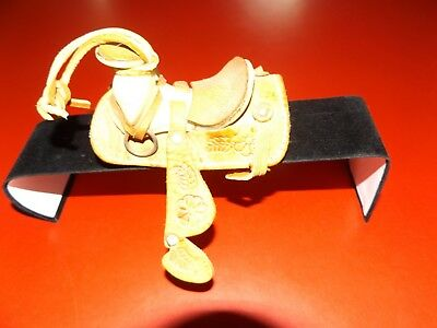 Western Miniature Horse Saddle Ornament New Real Leather