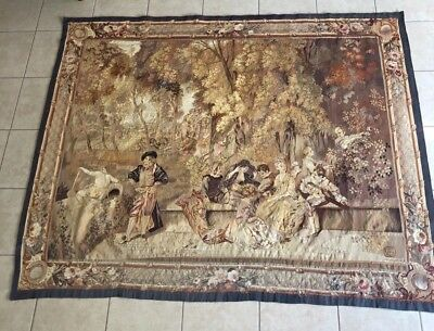 Antique French Wool 18th Century Aubusson Tapestry Museum Quality