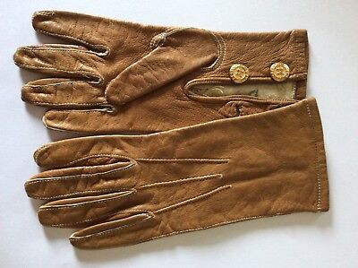 VTG Antique Children's LEATHER GLOVES Beautifully Made in UK Immaculate finest