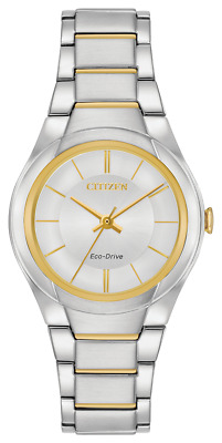 Citizen Eco Drive FE2084-51A 29mm Silver Dial Two Tone Classic Women's Watch