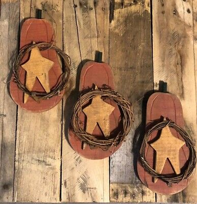 Lot of 3 Primitive Rustic Country PUMPKINS Autumn FALL HARVEST Wall Americana