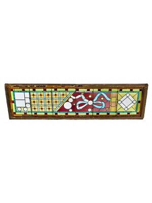 1880's High Victorian Era Stained Glass Window Salvaged From A Gold Coast Mansio