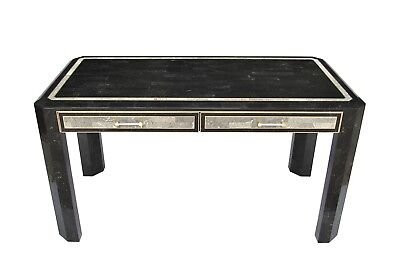 Maitland Smith Tessellated Marble Stone Brass Inlay Writing Desk Philippines