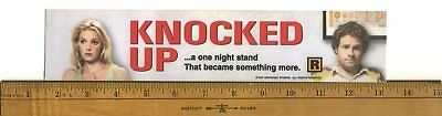 "Knocked Up (2007) Box Office Movie Theater Mylar 2.5"" X 11.5"""