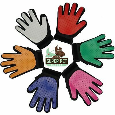 Re-designed Deshedding Pet Grooming Glove Brush Fur Remover Mitt Dog Cat Rabbit