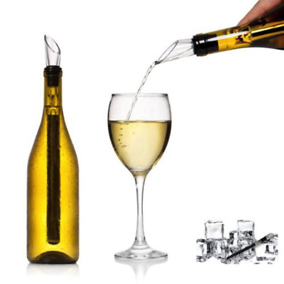 Stainless Steel Wine Chiller & Pourer Cooler Chill Chilling Stick Rod Freeze