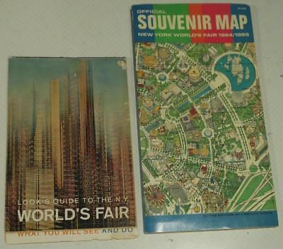 1964 1965 New York World's Fair Official SOUVENIR MAP AND Look's Guide Booklet