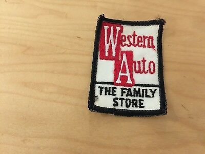 western auto the family store, patch , new old stock, 1970's