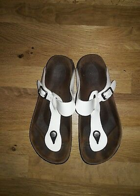 50852425c9c Birkenstock Betula Women s White Patent Leather Thong Sandals 37 Us 7