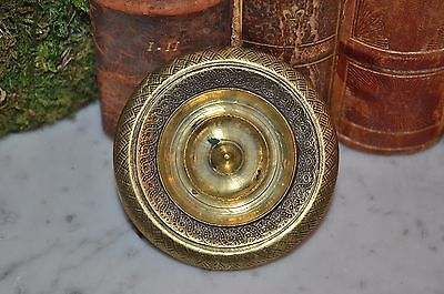 "Antique Large French Brass Door Cabinet Knob 2 1/2"" Ornate Design"