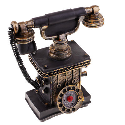 Antique Home Telephone Retro Vintage Old Fashioned Home Dial Phone 7111-31