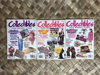 Country Accent's Collectibles Flea Market Finds Magazine 1996 3 Issue Lot